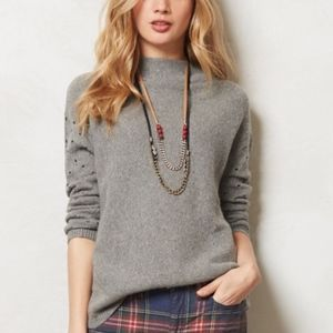Anthropologie Moth Ceres Mock Neck Sweater sz. XS